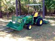 2OO8 John Deere 252O 4WD Loader Forks Mower